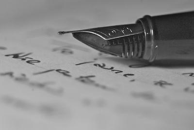 Empezar a escribir, pluma